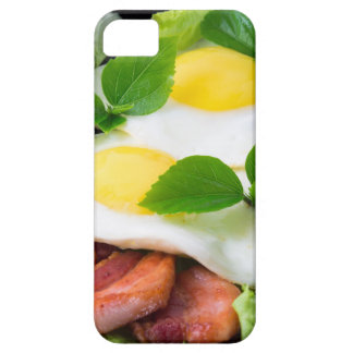 Fried eggs with herbs, lettuce and  bacon iPhone 5 cover