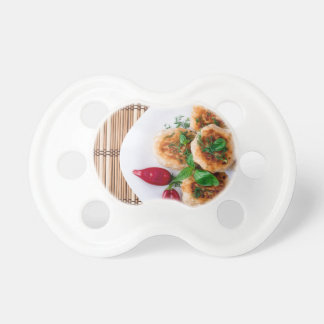 fried meatballs of minced chicken baby pacifiers