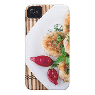 fried meatballs of minced chicken Case-Mate iPhone 4 cases