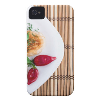 Fried meatballs of minced chicken with red pepper Case-Mate iPhone 4 cases