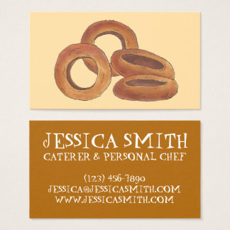 Fried Onion Rings Fast Food Chef Caterer Cook Business Card