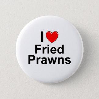 Fried Prawns 2 Inch Round Button