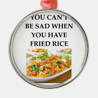 FRIED RICE Silver-Colored ROUND ORNAMENT