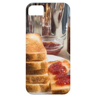 Fried toast with strawberry jam iPhone 5 cases
