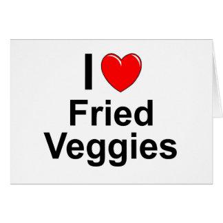 Fried Veggies Card