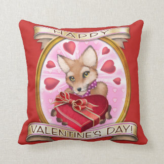 Frieda Tails Valentine's Day pillow - 16 x 16