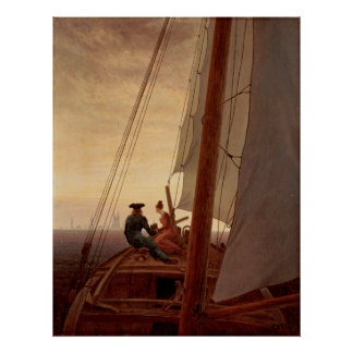 Friedrich, Caspar David - On a Sailing Ship Poster