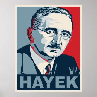 Friedrich Hayek Poster