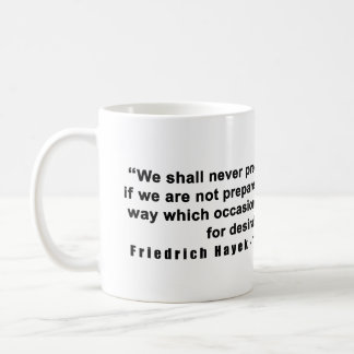 Friedrich Hayek Road to Serfdom Limit Power Quote Coffee Mug