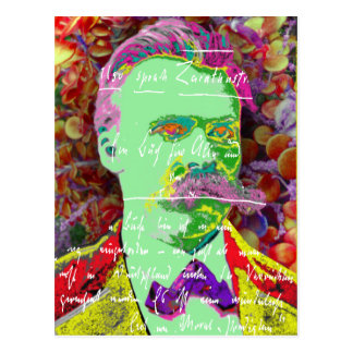 Friedrich Nietzche German Philosopher Existential Postcard
