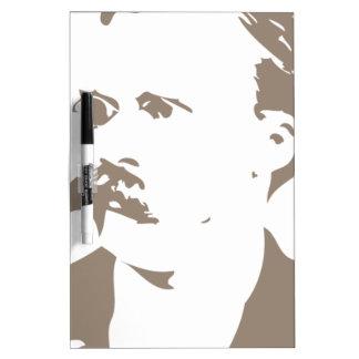 Friedrich Nietzsche Face Warm Gray Dry Erase Board