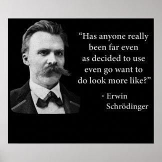 Friedrich Nietzsche Troll Quote Print