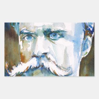 friedrich nietzsche - watercolor portrait
