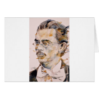 friedrich nietzsche - watercolor portrait.2 card