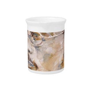 friedrich nietzsche - watercolor portrait.2 pitcher