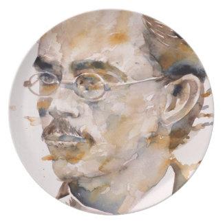 friedrich nietzsche - watercolor portrait.2 plate