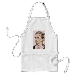 friedrich nietzsche - watercolor portrait.2 standard apron