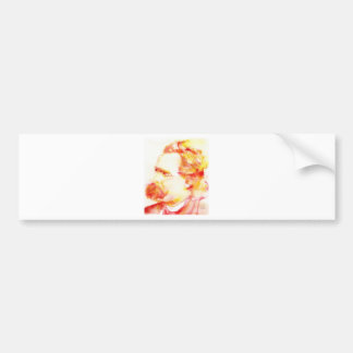 friedrich nietzsche - watercolor portrait.3 bumper sticker