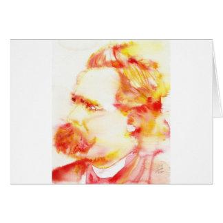 friedrich nietzsche - watercolor portrait.3 card