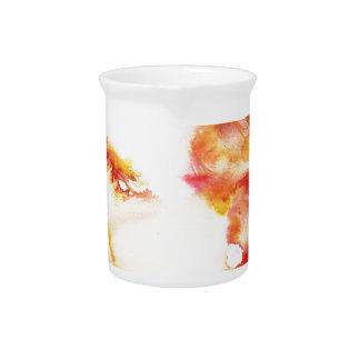 friedrich nietzsche - watercolor portrait.3 pitcher