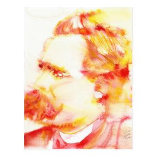 friedrich nietzsche - watercolor portrait.3 postcard