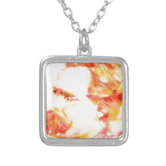 friedrich nietzsche - watercolor portrait.3 silver plated necklace