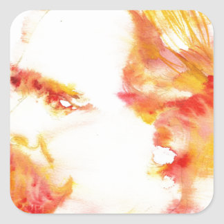 friedrich nietzsche - watercolor portrait.3 square sticker