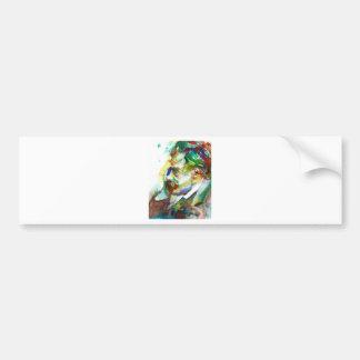 friedrich nietzsche - watercolor portrait.4 bumper sticker