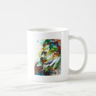 friedrich nietzsche - watercolor portrait.4 coffee mug