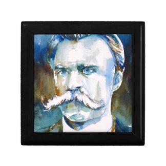 friedrich nietzsche - watercolor portrait gift box