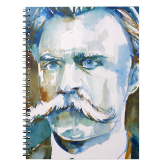 friedrich nietzsche - watercolor portrait notebooks