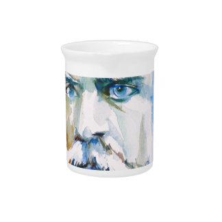 friedrich nietzsche - watercolor portrait pitcher