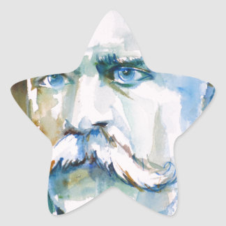 friedrich nietzsche - watercolor portrait star sticker