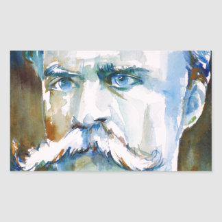 friedrich nietzsche - watercolor portrait sticker