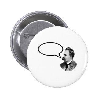 Friedrich Nietzsche Word Bubble Black jGibney 2 Inch Round Button