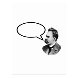 Friedrich Nietzsche Word Bubble BlackThe MUSEUM Za Postcard