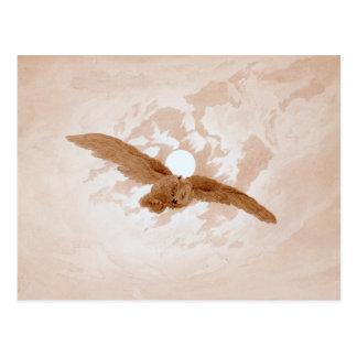Friedrich: Owl Flying Against a Moonlit Sky Postcard