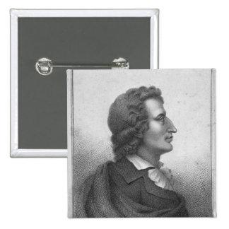 Friedrich Schiller  engraved by Massol 2 Inch Square Button
