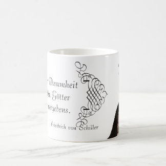 Friedrich von Schiller Quote on Battling Ignorance Coffee Mug
