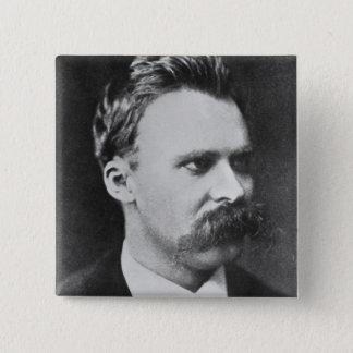 Friedrich Wilhelm Nietzsche (1844-1900) 1873 (b/w 2 Inch Square Button