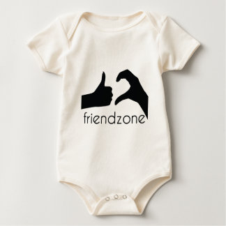 Friend area official logo baby bodysuit