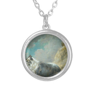 Friend by George Morland Round Pendant Necklace