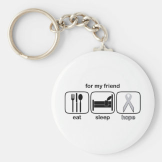 Friend Eat Sleep Hope - Lung Cancer Keychain