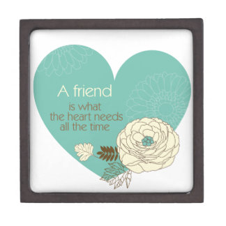 friend is what the heart need a gift box premium trinket box