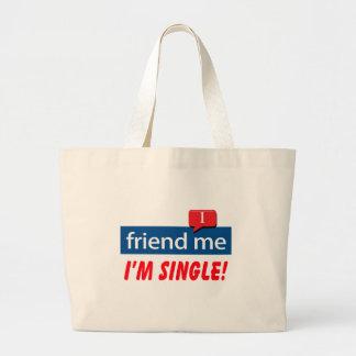 Friend Me, I'm Single! Canvas Bags