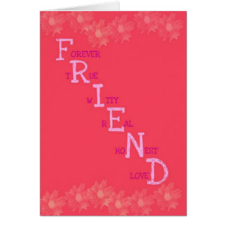 Friend Meaning Greeting Card