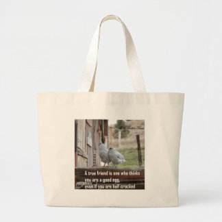 friend meme large tote bag