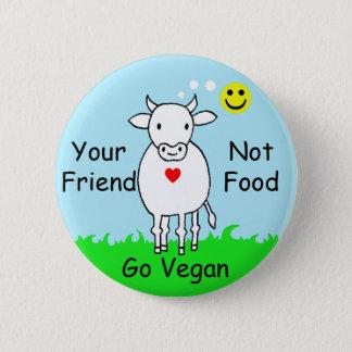 friend not food 2 inch round button