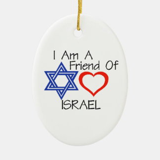 Friend of Israel Ceramic Oval Ornament