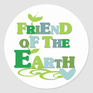 Friend of the Earth Round Sticker
